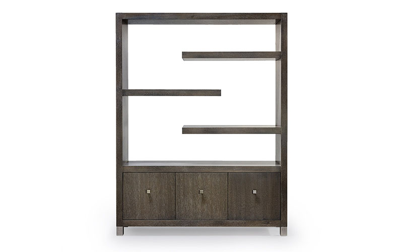 cantilever etagere with three doors