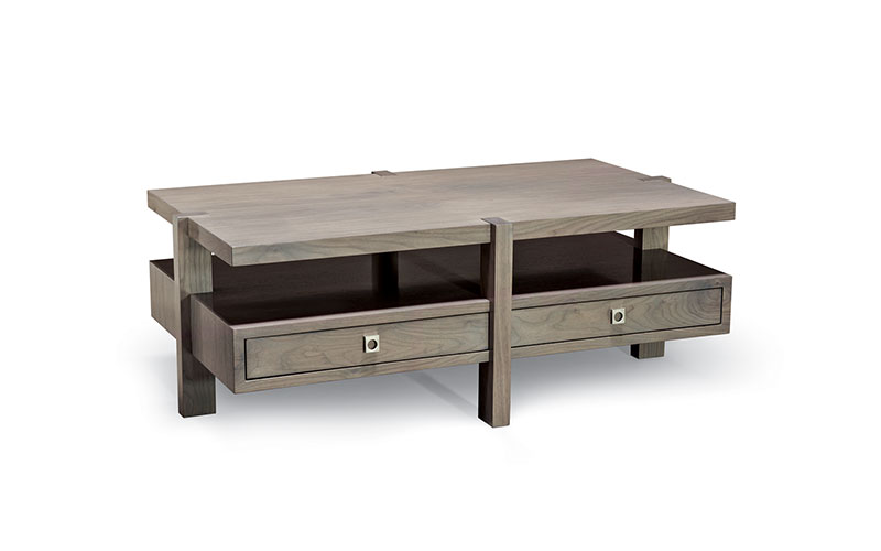 mezzanine rectangular coffee table - center leg